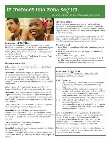 Teen dating violence_Spanish_3-08.indd - Kaiser Permanente