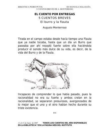EL CUENTO POR ENTREGAS 5 CUENTOS BREVES El burro y la ...