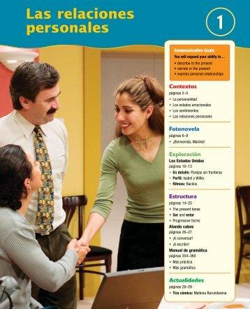 Las relaciones personales - Vista Higher Learning