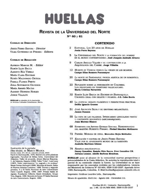 REVISTA DE LA UNIVERSIDAD DEL NORTE N°s 60 y 61 1