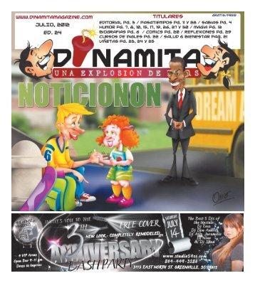JUlIO, 2012 Ed. 24 Titulares - Dinamita Magazine