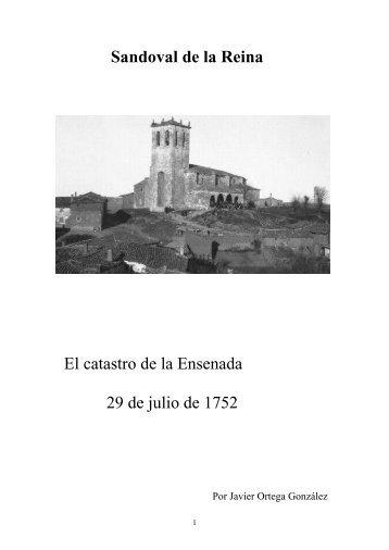 Catastro de la Ensenada - Sandoval de la Reina