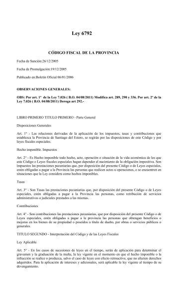 Código Fiscal de la Pcia. (Ley 6792) - Poder Judicial