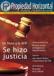 Revista 292 - Cámara Argentina de la Propiedad Horizontal y ...