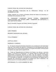 CODIGO FISCAL DEL ESTADO DE CHIHUAHUA ULTIMA ...