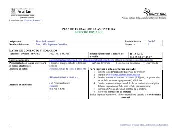 Derecho Romano I - ceted - Universidad Nacional Autónoma de ...