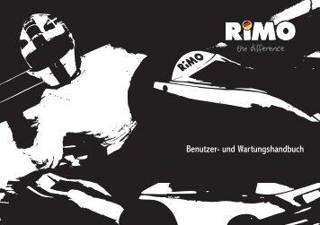 Benutzer- und Wartungshandbuch - Rimo