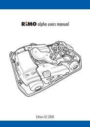 alpha users manual - Rimo