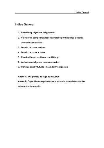 Índice General - Index of - Universidad de Sevilla
