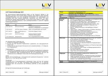 Ausschreibung Trainerfortbildungen 2011 - WRV