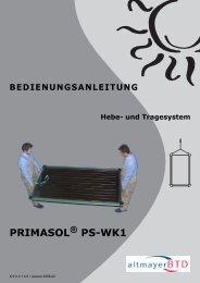 BEDIENUNGSANLEITUNG Hebe- und Tragesystem PRIMASOL ...