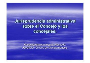 Jurisprudencia administrativa sobre el Concejo y los concejales ...