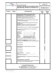 Ausschreibungstext Stahltank unterirdisch nach DIN EN 12285-1 ...