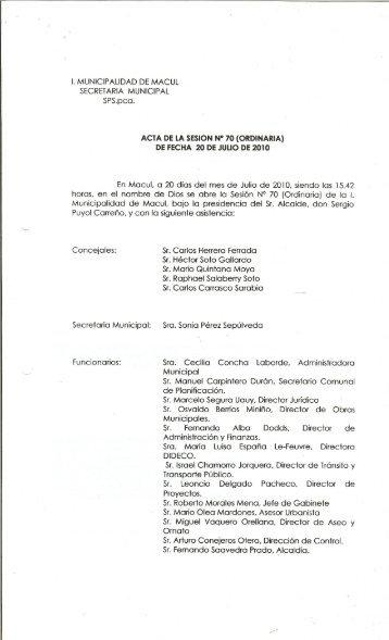 Concejales: Sr.CarlosHerreraFerrada Sr. Osvaldo Berríos Miniño ...