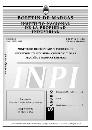 Marcas Concedidas 09-05-2007 2 - Instituto Nacional de la ...