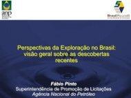 Perspectivas da Exploração no Brasil: visão geral sobre as ... - ANP
