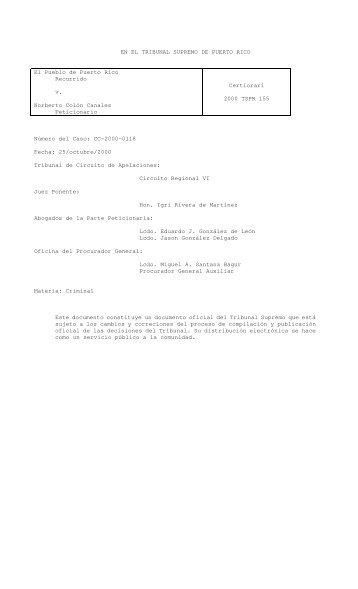 155 - Rama Judicial de Puerto Rico
