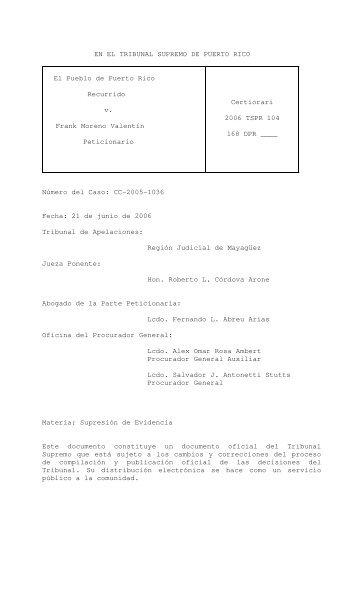 2006 TSPR 104 - Rama Judicial de Puerto Rico