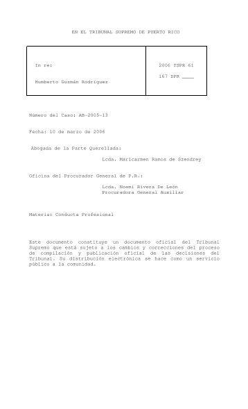 2006 TSPR 61 - Rama Judicial de Puerto Rico