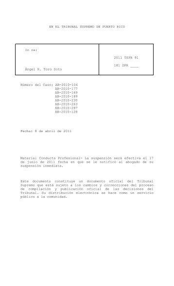 Per Curiam - Rama Judicial de Puerto Rico