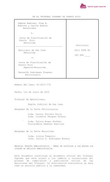 2012 TSPR 96 - Rama Judicial de Puerto Rico