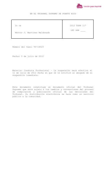 2012 TSPR 117 - Rama Judicial de Puerto Rico