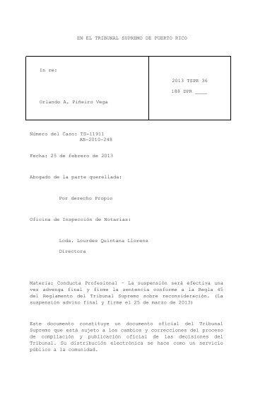 Orlando A. Piñeiro Vega - Rama Judicial de Puerto Rico