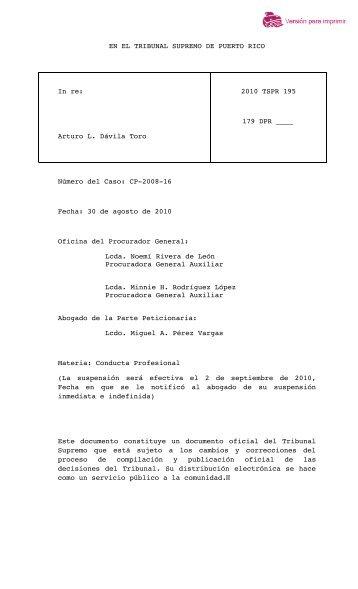 2010 TSPR 195 - Rama Judicial de Puerto Rico
