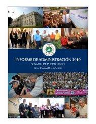 INFORME DE ADMINISTRACIÓN 2010 - Senado de Puerto Rico