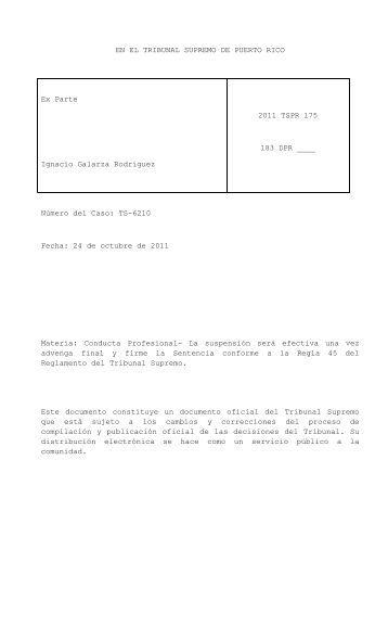 2011 TSPR 175 - Rama Judicial de Puerto Rico
