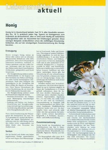 Sonderdruck aus Ernährung-Umschau, Jg. 51 (2004), Heft