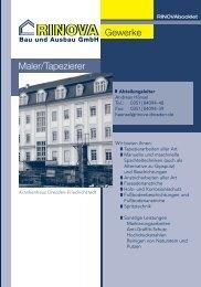 Gewerke Maler/Tapezierer - Rinova Haustechnik und Ausbau ...