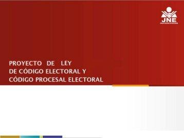 2. Presentación del Proyecto de Código Electoral (PDF)