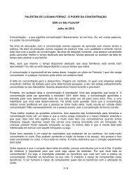 PALESTRA DE LUCIANA FERRAZ - O PODER ... - Brahma Kumaris