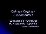 Preparação e purificação do acetato de ... - cempeqc - Unesp