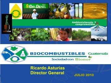 Ricardo Asturias, Biodiesel de Guatemala