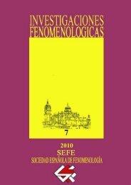 investigaciones fenomenológicas revista - UNED