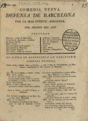 DEFENSA DE BARCELONA