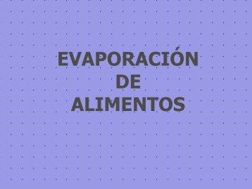 EVAPORACIÓN DE ALIMENTOS