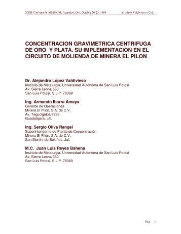 concentracion gravimetrica centrifuga de oro y plata. su ... - Metso