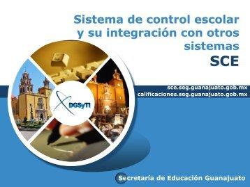 Sistema de control escolar y su integración con otros sistemas SCE