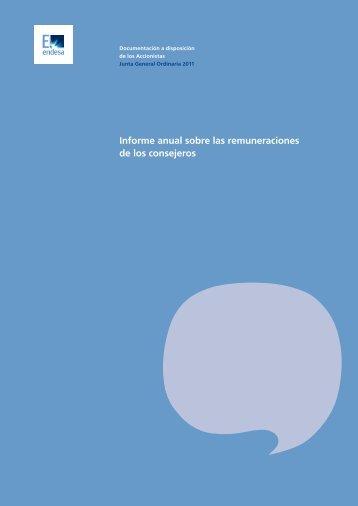 Informe anual sobre las remuneraciones de los consejeros - Endesa