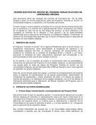 Resumen Prueba Piloto Indìgenas - Acción social
