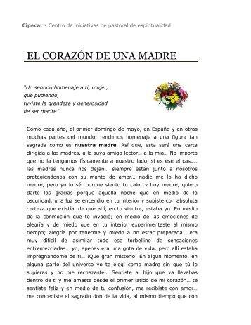 El corazón de una madre / Cipecar - Centro de iniciativas de ...