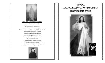 novena a santa faustina, apostol de la misericordia divina - Maria ...
