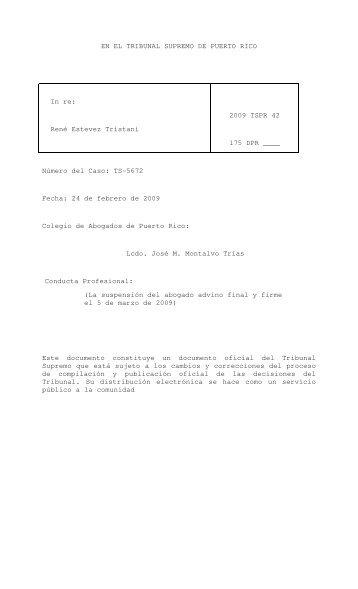 2009 TSPR 42 - Rama Judicial de Puerto Rico