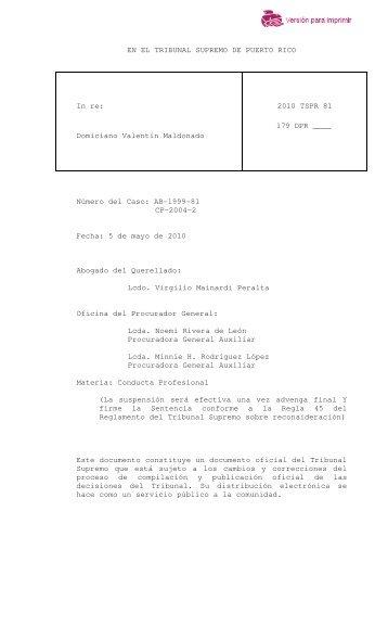 2010 TSPR 81 - Rama Judicial de Puerto Rico