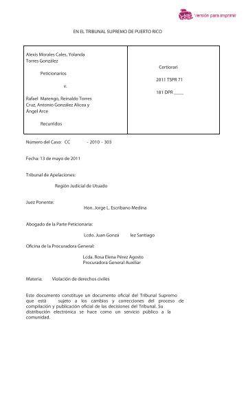 2011TSPR - Rama Judicial de Puerto Rico