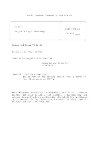 2007 TSPR 54 - Rama Judicial de Puerto Rico
