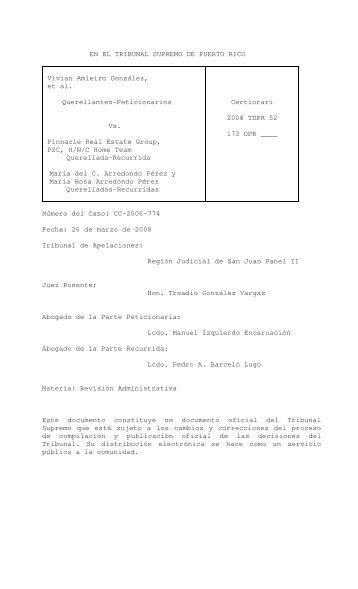 2008 TSPR 52 - Rama Judicial de Puerto Rico